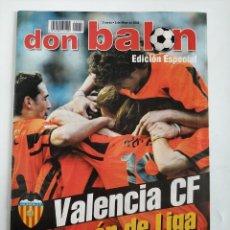 Coleccionismo deportivo: REVISTA DON BALON EDICIÓN ESPECIAL VALENCIA CF CAMPEÓN DE LIGA 2001-2002 COLECCION. Lote 178263250