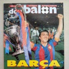 Coleccionismo deportivo: REVISTA DON BALON NUMERO 865 FC BARCELONA CAMPEON COPA DE EUROPA 1992 EXCELENTE Y CON POSTER. Lote 178264101