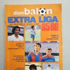 Coleccionismo deportivo: ANTIGUA REVISTA BALON EXTRA LIGA 85 86 EXCELENTE. Lote 178265068