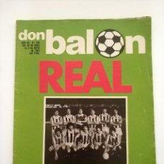 Coleccionismo deportivo: REVISTA DON BALON NUMERO 290 REAL SOCIEDAD CAMPEON LIGA 4 MAYO 1981. Lote 178265681