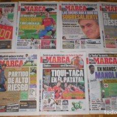 Coleccionismo deportivo: EXCEPCIONAL LOTE 99 PERIODICOS DEPORTIVOS MARCA LIGA FUTBOL CHAMPIONS TENIS NADAL MUERTE SAMARANCH. Lote 178275213