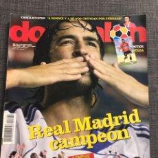 Coleccionismo deportivo: FÚTBOL DON BALÓN 1699 - REAL MADRID CAMPEÓN LIGA - JARQUE ESPANYOL - POSTER GÜIZA - CAPEL - BAYERN. Lote 178322622