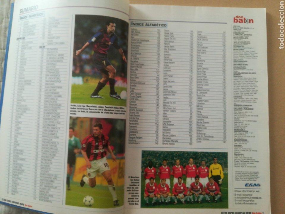 Coleccionismo deportivo: Don Balón Extra Copas Europeas 1999-2000 - Foto 2 - 178339841