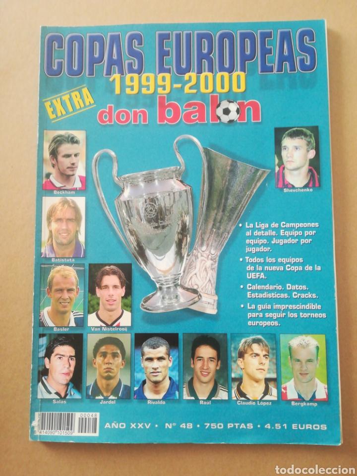 DON BALÓN EXTRA COPAS EUROPEAS 1999-2000 (Coleccionismo Deportivo - Revistas y Periódicos - Don Balón)