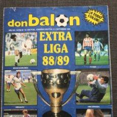 Coleccionismo deportivo: FÚTBOL DON BALÓN EXTRA LIGA 16 TEMPORADA 88-89 - AS MARCA SPORT MUNDO DEPORTIVO CROMO ÁLBUM. Lote 178594096