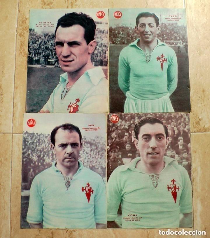 LOTE DE 4 LAMINAS POSTER CARTELES JUGADOR FUTBOL CELTA DE VIGO MARCA (Coleccionismo Deportivo - Revistas y Periódicos - Marca)