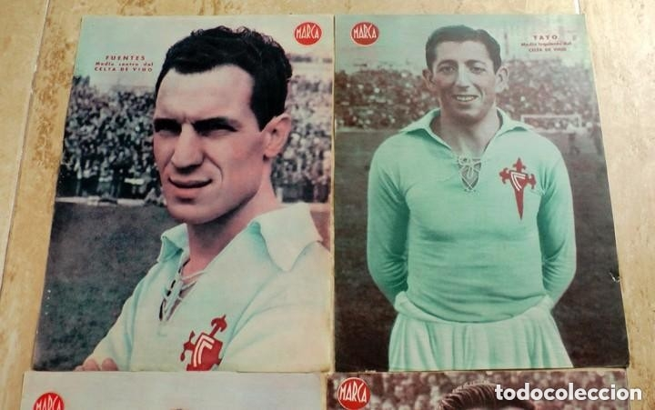 Coleccionismo deportivo: lote de 4 laminas poster carteles jugador futbol celta de vigo marca - Foto 2 - 178598157