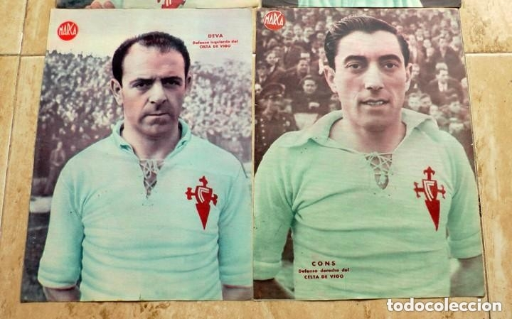 Coleccionismo deportivo: lote de 4 laminas poster carteles jugador futbol celta de vigo marca - Foto 3 - 178598157