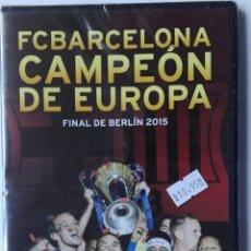 Coleccionismo deportivo: DVD FC BARCELONA CAMPEÓN DE EUROPA. FINAL DE BERLÍN 2.015. Lote 178607597
