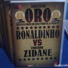 Coleccionismo deportivo: DVD DUELOS DE ORO DOS BALONES DE ORO FRENTE A FRENTE Nº 2 ( RONALDINHO VS ZINEDINE ZIDANE ) 2006 . Lote 178621567