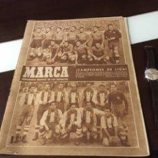 Coleccionismo deportivo: SEMANARIO MARCA VALENCIA CAMPEÓN DE LIGA 1946 1947 INCREÍBLE . Lote 178982583