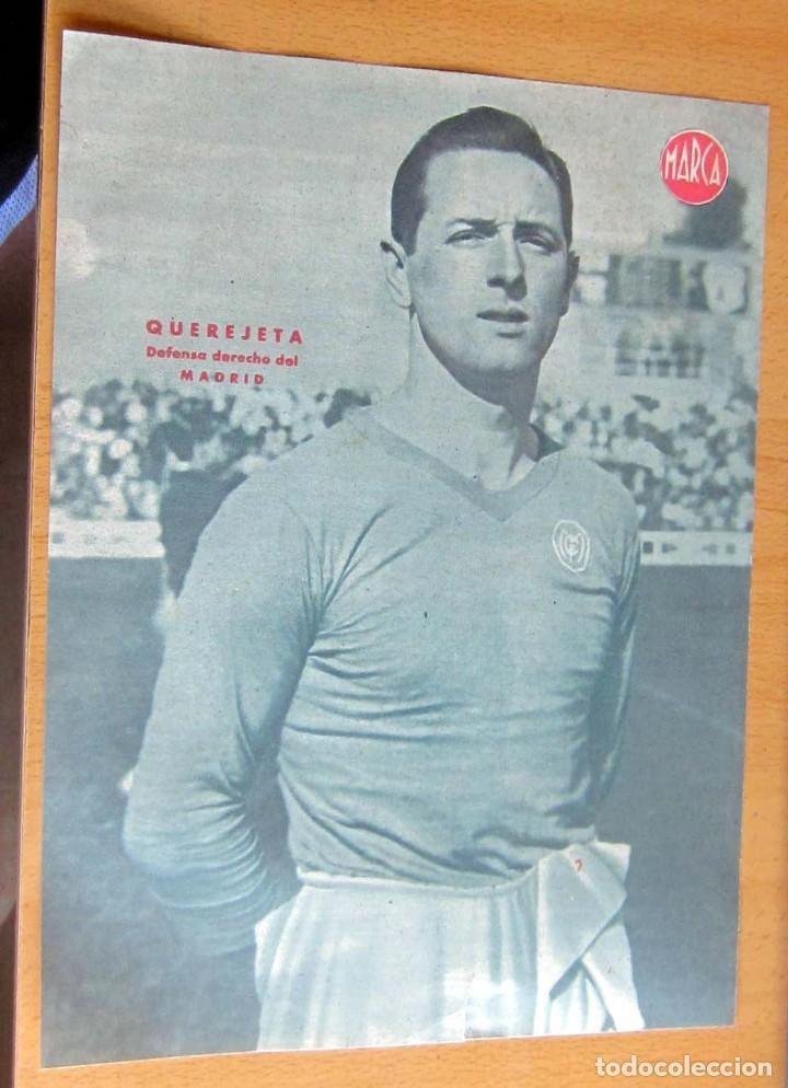 MARCA QUEREJETA DEFENSA DERECHO REAL MADRID MARCA LAMINA POSTER , ORIGINAL (Coleccionismo Deportivo - Revistas y Periódicos - Marca)