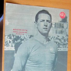 Coleccionismo deportivo: QUEREJETA DEFENSA DERECHO REAL MADRID MARCA LAMINA POSTER , ORIGINAL . Lote 178992752