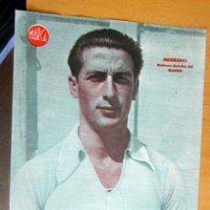 Coleccionismo deportivo: MEDRANO DEFENSA DERECHO REAL MADRID MARCA LAMINA POSTER , ORIGINAL . Lote 178992778