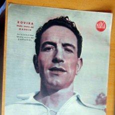 Coleccionismo deportivo: ROVIRA MEDIO CENTRO DEL REAL MADRID MARCA LAMINA POSTER , ORIGINAL . Lote 178992832