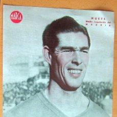 Coleccionismo deportivo: HUETE MEDIO IZQUIERDO DEL REAL MADRID MARCA LAMINA POSTER , ORIGINAL . Lote 178992862