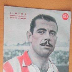 Coleccionismo deportivo: JIMENO DEFENSA DERECHO ATLETICO AVIACION MARCA LAMINA POSTER , ORIGINAL . Lote 178993043