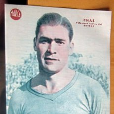 Coleccionismo deportivo: CHAS DELANTERO CENTRO DEL OVIEDO MARCA LAMINA POSTER , ORIGINAL . Lote 178993807