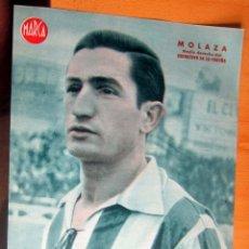 Coleccionismo deportivo: MOLAZA MEDIO DERECHO DEPORTIVO CORUÑA MARCA LAMINA POSTER , ORIGINAL . Lote 178994622