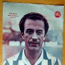 Coleccionismo deportivo: PERAL MEDIO DERECHO BETIS MARCA LAMINA POSTER , ORIGINAL . Lote 178994681