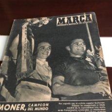 Coleccionismo deportivo: ANTIGUO PERIÓDICO MARCA TIMONER CAMPEÓN DEL MUNDO CICLISMO 1959. Lote 179070866