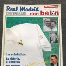 Coleccionismo deportivo: FÚTBOL DON BALÓN EXTRA 59 CENTENARIO REAL MADRID - AS MARCA SPORT MUNDO DEPORTIVO CROMO ÁLBUM PANINI. Lote 179086096