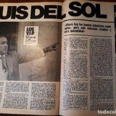 Coleccionismo deportivo: LUIS DEL SOL, JUGADOR DEL REAL MADRID -REPORTAJE DE 5 PAGINAS AÑO 1981. Lote 179159728