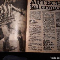 Coleccionismo deportivo: ARTECHE , TAL COMO ES - JUGADOR DEL ATLETICO DE MADRID - 4 PAGINAS - AÑO 1981. Lote 179206087