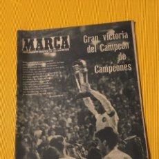 Coleccionismo deportivo: ANTIGUO MARCA REAL MADRID CAMPEÓN DE CAMPEONES COPA INTERCONTINENTAL 1960. Lote 179213942