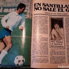 Coleccionismo deportivo: EN SANTILLANA NO SALE EL GOL - CRISIS DE JUEGO REAL MADRID - CUATRO PAGINAS DE REVISTA AÑO 1981. Lote 179222222