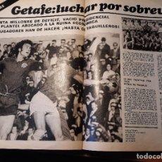 Coleccionismo deportivo: INFORME DEL C.D GETAFE DEL AÑO 1981 -LUCHAR POR SOBREVIVIR - 3 PAGINAS REVISTA DEL 1981. Lote 179227638