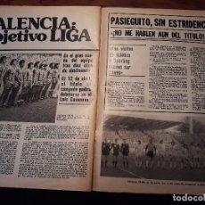 Coleccionismo deportivo: EL VALENCIA DE PASIEGUITO, OBJETIVO LA LIGA - 4 PAGINAS - AÑO 1981 . Lote 179228496