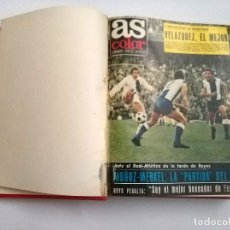 Coleccionismo deportivo: LOTE 35 REVISTAS AS COLOR CONSECUTIVAS 33 AL 67 EN 1 TOMO AÑO 1972 MADRID CAMPEON INCLUYE POSTERS. Lote 179232551