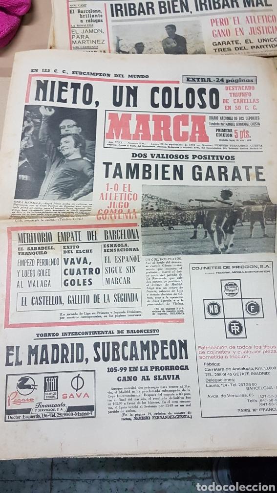 DIARIO MARCA SEPTIEMBRE 1970 NIETO UN COLOSO (Coleccionismo Deportivo - Revistas y Periódicos - Marca)