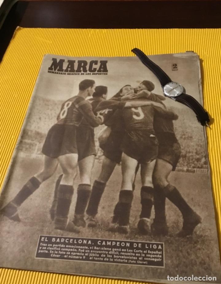 ANTIGUO MARCA BARCELONA CAMPEÓN DE LIGA 1949 TOTALMENTE ORIGINAL (Coleccionismo Deportivo - Revistas y Periódicos - Marca)