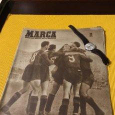 Coleccionismo deportivo: ANTIGUO MARCA BARCELONA CAMPEÓN DE LIGA 1949 TOTALMENTE ORIGINAL. Lote 179342762