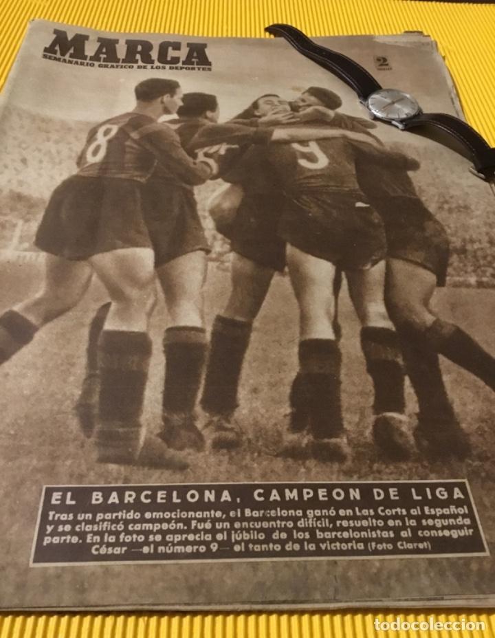 Coleccionismo deportivo: Antiguo marca Barcelona campeón de liga 1949 totalmente original - Foto 2 - 179342762