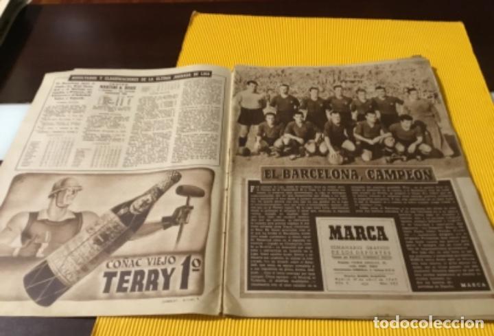Coleccionismo deportivo: Antiguo marca Barcelona campeón de liga 1949 totalmente original - Foto 3 - 179342762