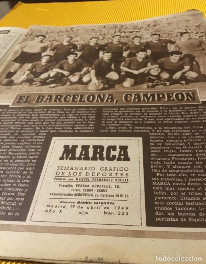 Coleccionismo deportivo: Antiguo marca Barcelona campeón de liga 1949 totalmente original - Foto 4 - 179342762