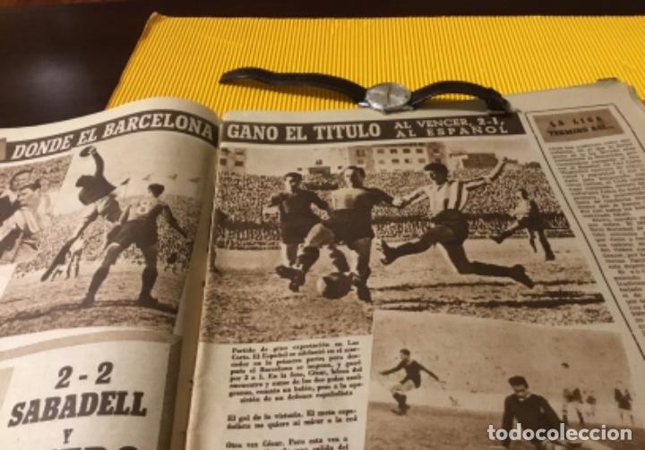 Coleccionismo deportivo: Antiguo marca Barcelona campeón de liga 1949 totalmente original - Foto 5 - 179342762