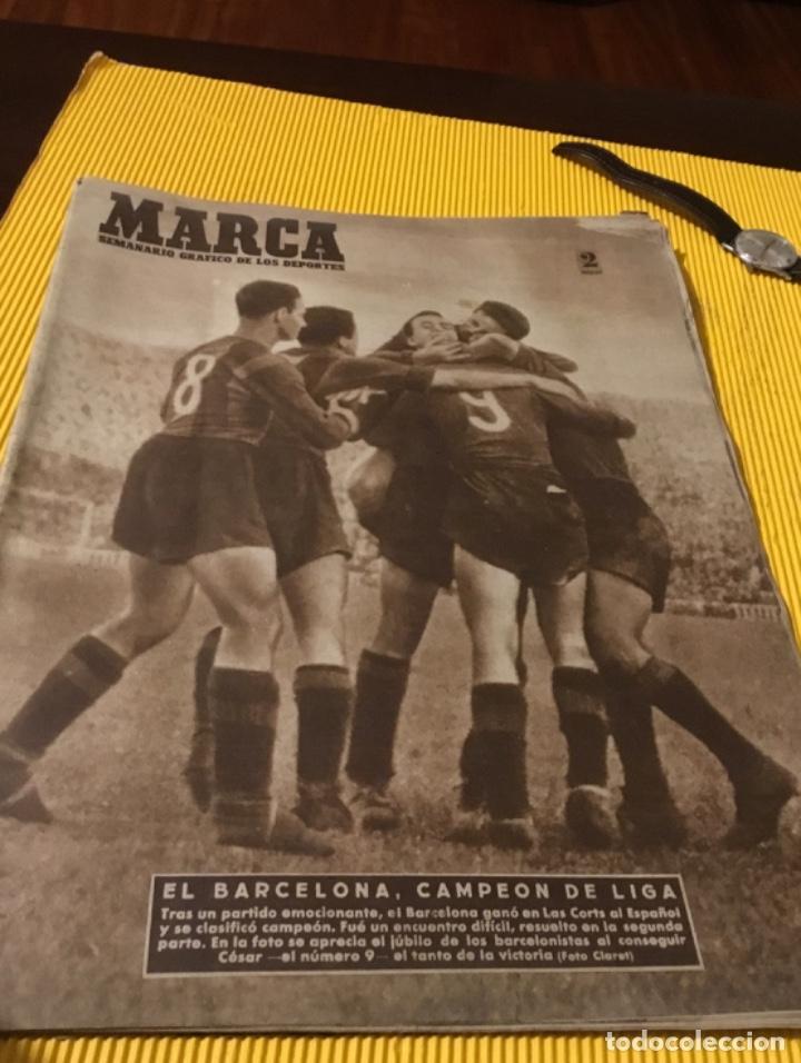 Coleccionismo deportivo: Antiguo marca Barcelona campeón de liga 1949 totalmente original - Foto 9 - 179342762