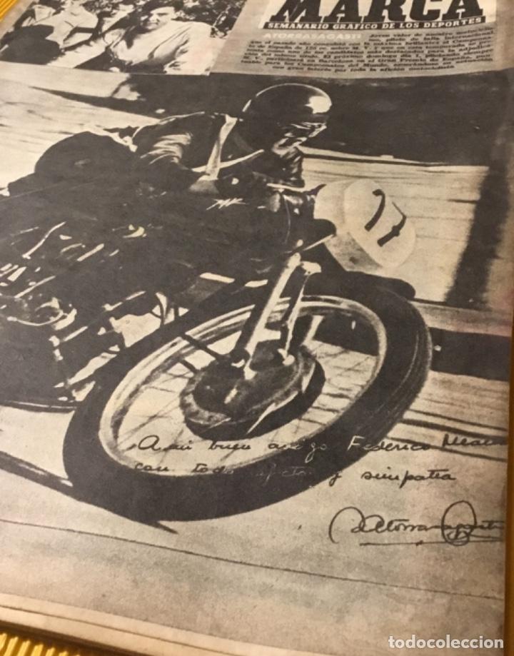 Coleccionismo deportivo: Antigua marca motociclismo vespa pegaso Lube 1955 - Foto 2 - 179343638