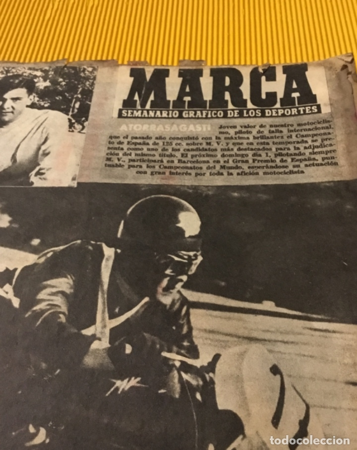 Coleccionismo deportivo: Antigua marca motociclismo vespa pegaso Lube 1955 - Foto 3 - 179343638