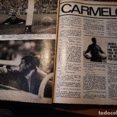 Coleccionismo deportivo: ENTREVISTA A CARMELO - PORTERO DEL ATHLETIC DE BILBAO Y RCD ESPAÑOL - 5 PAGINAS - AÑO 1981. Lote 179405396