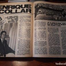 Coleccionismo deportivo: ENTREVISTA A ENRIQUE COLLAR , JUGADOR DEL ATLETICO DE MADRID - AÑO 1981 - 5 HOJAS. Lote 179958773