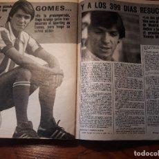 Coleccionismo deportivo: GOMES - JUGADOR DEL ATLETICO DE MADRID - 2 PAGINAS -AÑO 1981 . Lote 179958892