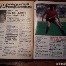 Coleccionismo deportivo: 100 PREGUNTAS A MARTIN JUGADOR DEL OSASUNA - AÑO 1981 - 4 PAGINAS. Lote 179959118