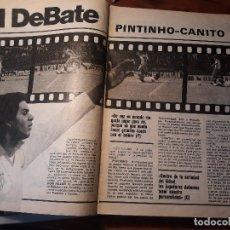 Coleccionismo deportivo: EL DEBATE - PINTINHO - CANITO - JUGADORES POLEMICOS DEL SEVILLA Y ESPAÑOL - 5 PAGINAS - AÑO 1982. Lote 179964232
