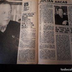 Coleccionismo deportivo: ENTREVISTA A JULIAN ARCAS , JUGADOR DEL ESPAÑOL - AÑO 1982 - 5 PAGINAS . Lote 179988985