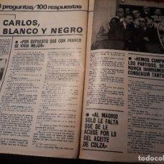 Coleccionismo deportivo: LUIS DE CARLOS , PRESIDENTE DEL REAL MADRID - 100 PREGUNTAS Y RESPUESTAS - AÑO 1982 - 4 PAGINAS. Lote 180005243